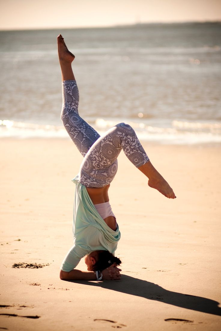 Yoga on the beach.  I want to do this now!