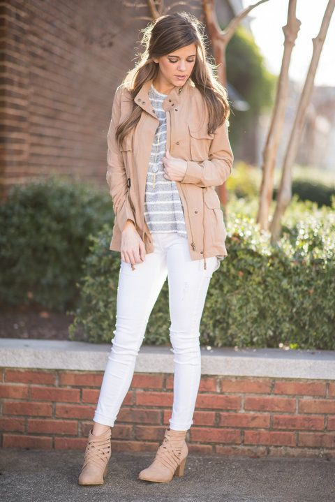 """Cargo Style Zip Up Jacket - Camel"" We want you to know that you are going to love this jacket! It's so light and easy to layer! It's the perfect jacket to grab as you're running out the door just in case you need it. #newarrivals #shopthemint"