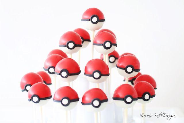 Emmas KakeDesign: Pokemon Go Cake Pops (Pokeballs)! www.emmaskakedesign.blogspot.com