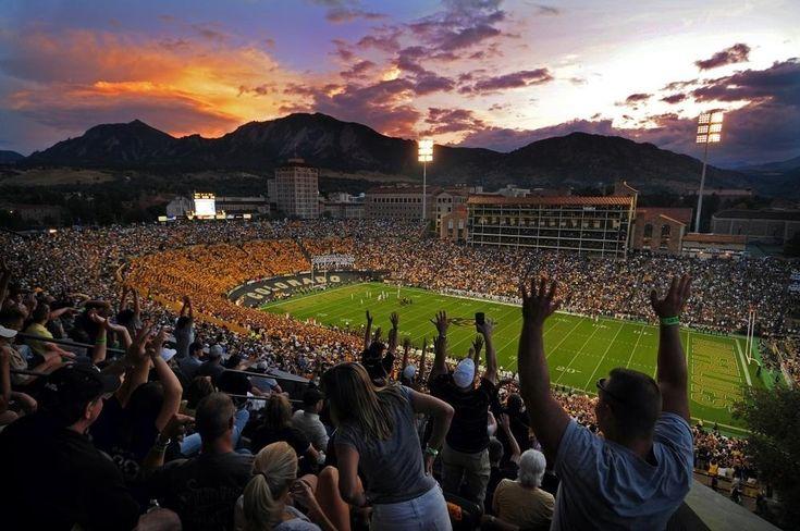 CU Buffs - University of Colorado Boulder Folsom Field Game Time Stadium Sunset LOVE