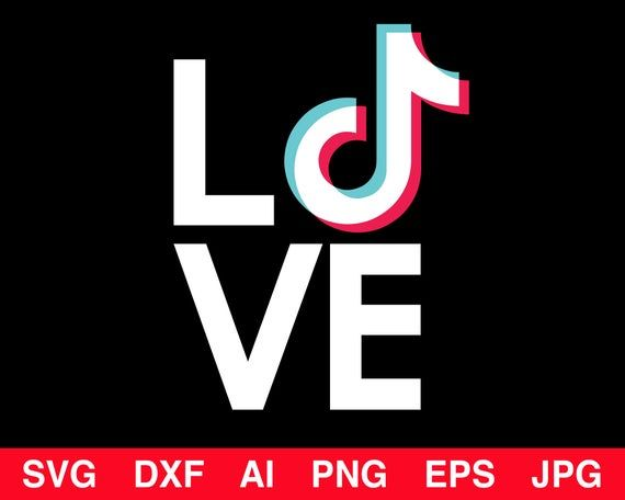 Tik Tok Logo Svg Tiktok Svg Love Svg Png Eps Ai Dxf Popular Svg Shirt Svg Instant Download In 2020 No Time For Me Svg Cricut Design