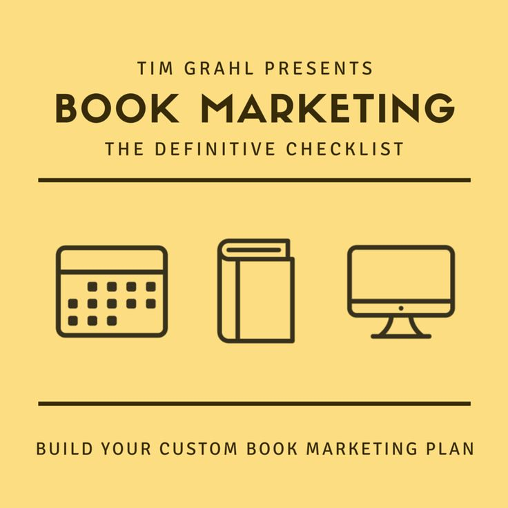 Book marketing plan the definitive checklist