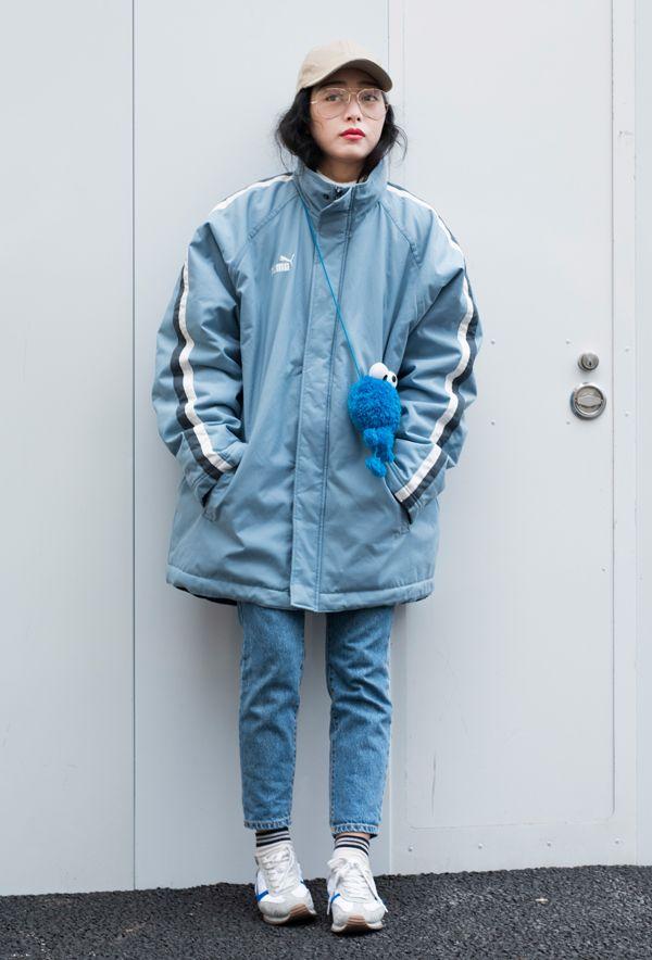 【キャンパス・パパラッチ DAILY】 青×白で元気な印象のスポーツ風に、キン シンさん