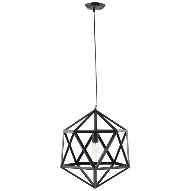 Hexagon Black Metal Chandelier   Modern Furniture • Brickell Collection
