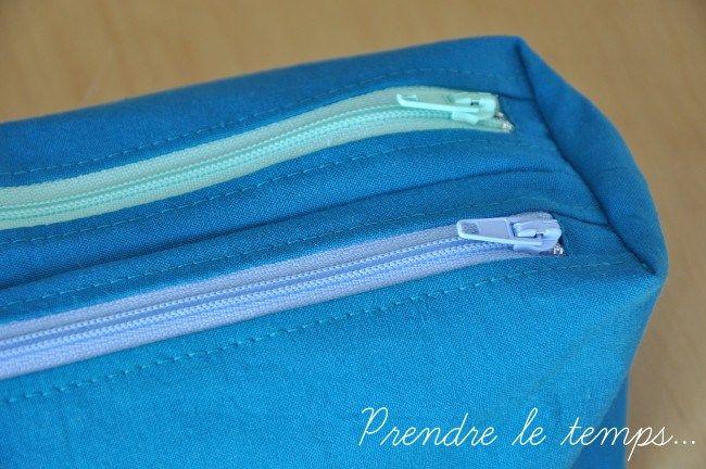 Prendre le temps - Couture - Trousse Zip-zip de Sacôtin double compartiment
