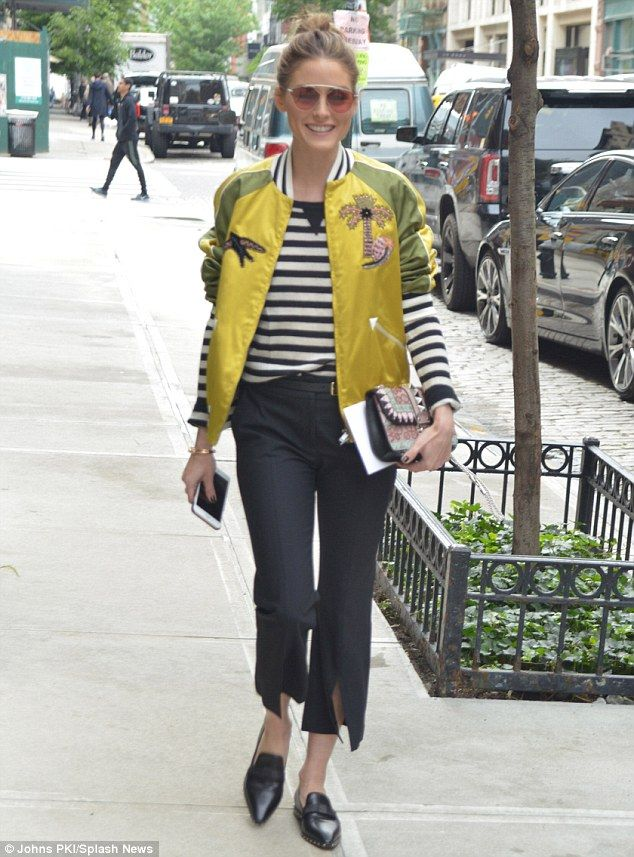 Street style: Olivia Palermo was all smiles as she arrived at the Valentino 2018 Resort Fashion Show in New York on May 23, 2017