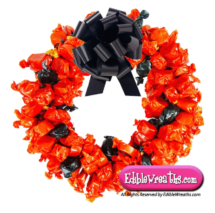 candy wreaths mary jane peanut butter kisses taffy candy wreath is one of our most - Halloween Candy Wreath