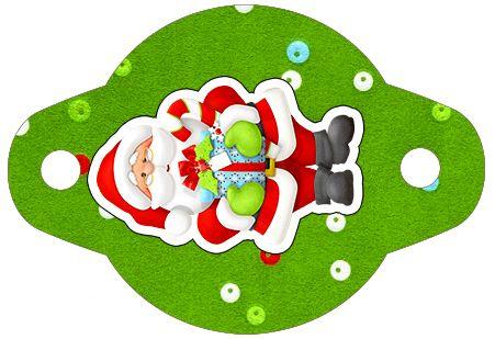 Enfeite Canudinho Natal Vermelho e Verde