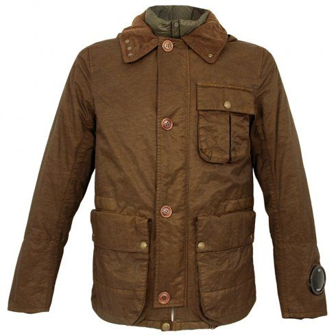 CP Company Dyed Brown Goggle Jacket