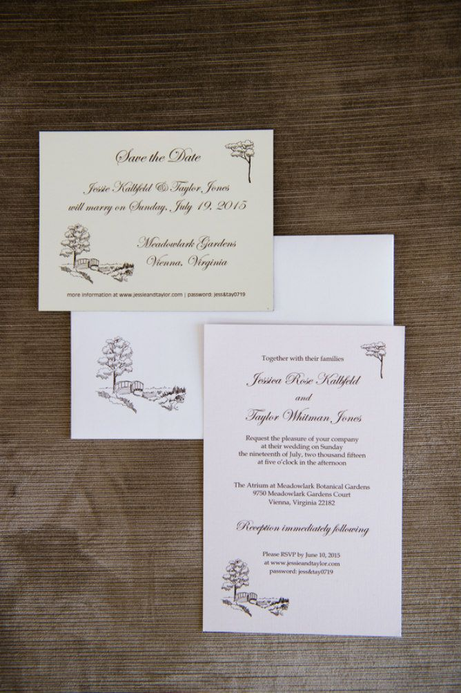 Brown Tree Wedding Invitations // Found On Modern Jewish Wedding Blog //  Photographer: