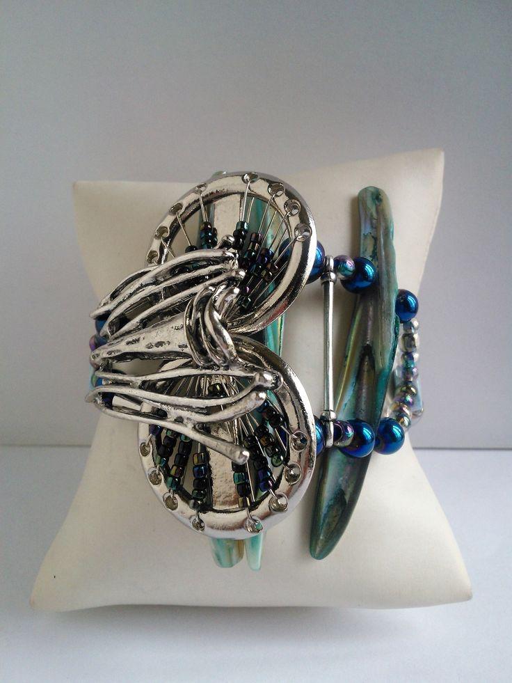 Nouveauté femme 2017 bracelet 2 rangs ,unique et fait main : Bracelet par les-creations-uniques-de-michel-nala