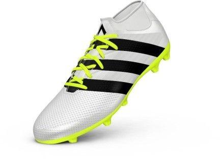 adidas Women's Ace 16.3 Primemesh FG/AG W Soccer Shoe, White/Black/Electricity, 8.5 M US