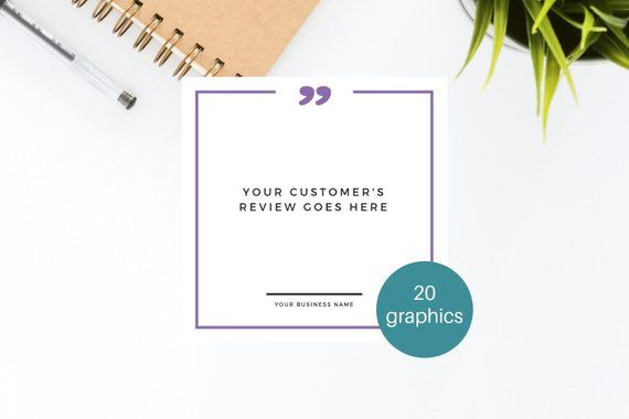 Social Media Graphics Testimonials And Reviews