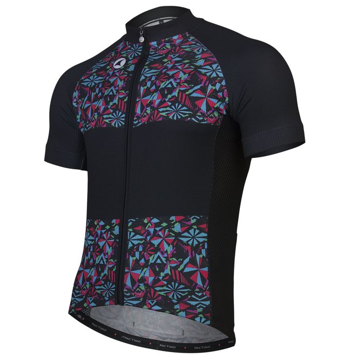 Great artist inspired cycling jersey paired with matching Geometric Overlap cycling bib shorts. Designed by artist Gregory Klein.