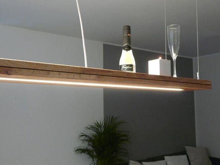 Hngelampe Holz Eiche Gelt Mit Ober Und Unterlicht