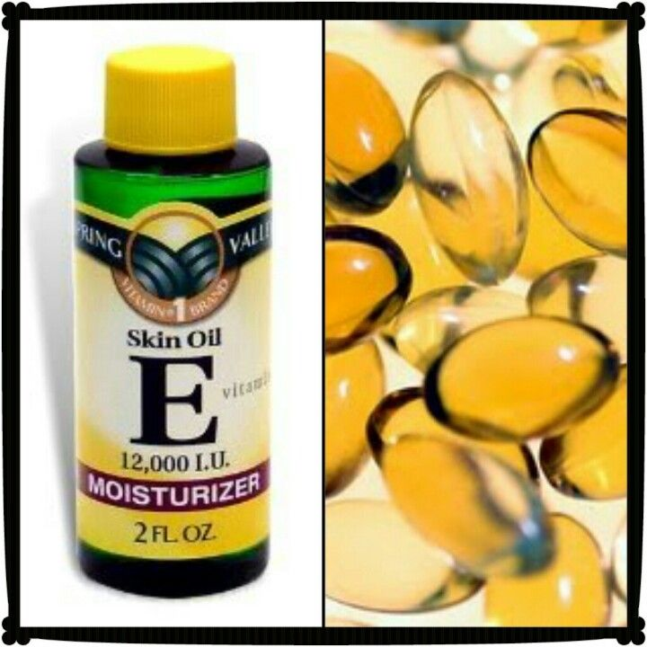 Vitamin E Oil is good for: Face- wrinkles, acne scars, lips, eyelash and eyebrow growth, moisturizer for dry skin (for oily skin only apply on problem areas)  Body- stretch marks, scars, body moisturizer, nail cuticles.  Vitamin E supplements: let it do it's job from the inside out, or poke a hole through the gel capsule and squeeze out the vitamin E to use as listed above.