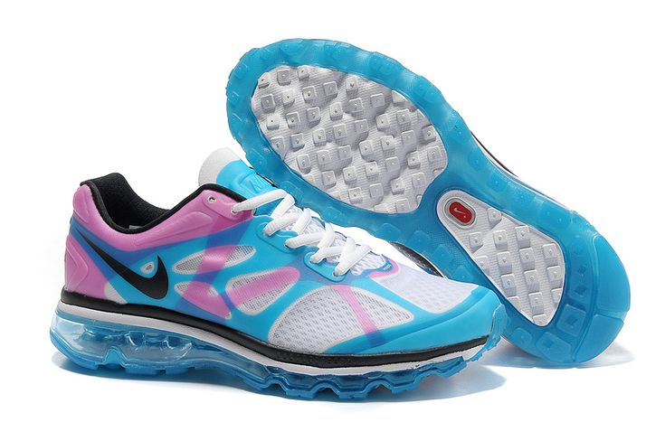 sports shoes 75ac3 f1b27 shop blue pink white nike air max 2012 womens running shoes 0bbe7 d7216