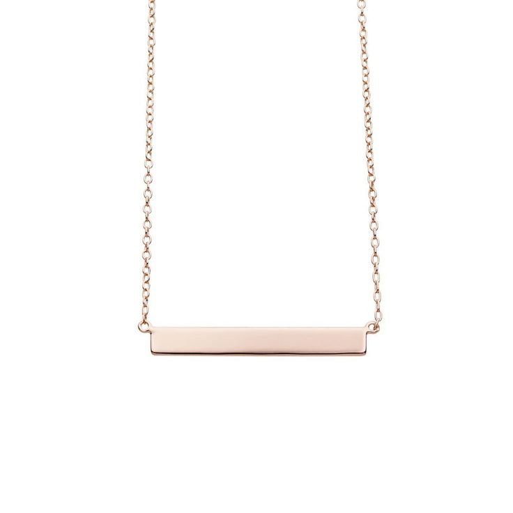 Narrow Bar Necklace — Vinci Collections