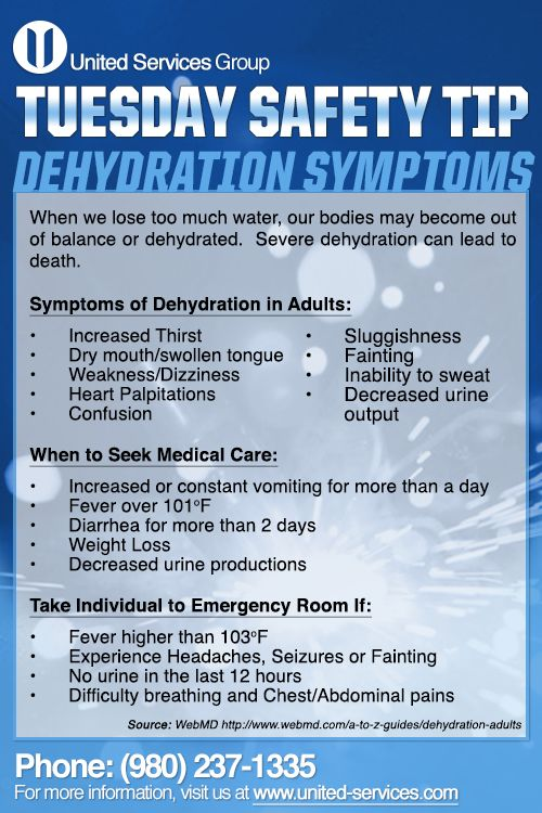 This Week S Tuesday Safety Tip Is About The Dehydration