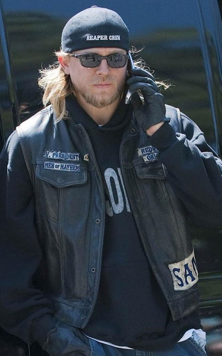 Charlie Hunnam - LOVE his hair! Sons of Anarchy, SAMCRO, SOA, bikers, brothers, family, great tv, Jax, powerful face, intense, strong, sunglasses, beard, portrait, photo