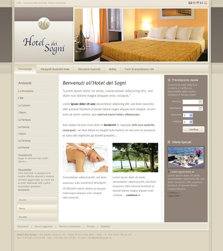 Hotel dei Sogni - Web Design by Anna Maria - GoAnna Designs