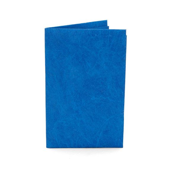 Paper-Thin Card Holder Unisex for Men & Women - Solid Blue Design - Made in Tyvek - Eco-friendly and 100% Recyclable