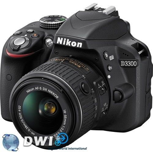 Nikon D3300 Kit AF-S 18-55mm VR II Lenses Digital SLR Cameras | DWI