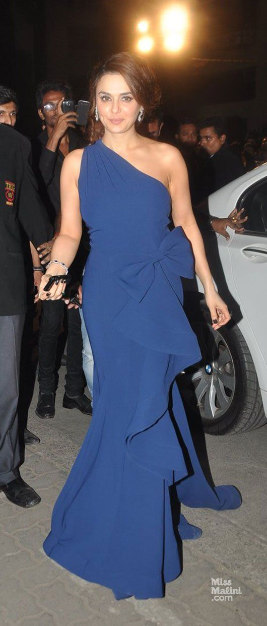 Preity Zinta rocks ruffles and a cold shoulder.