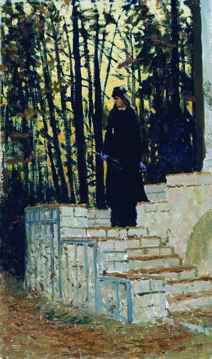 Женская фигура на фоне пейзажа. 1883. Илья Ефимович Репин