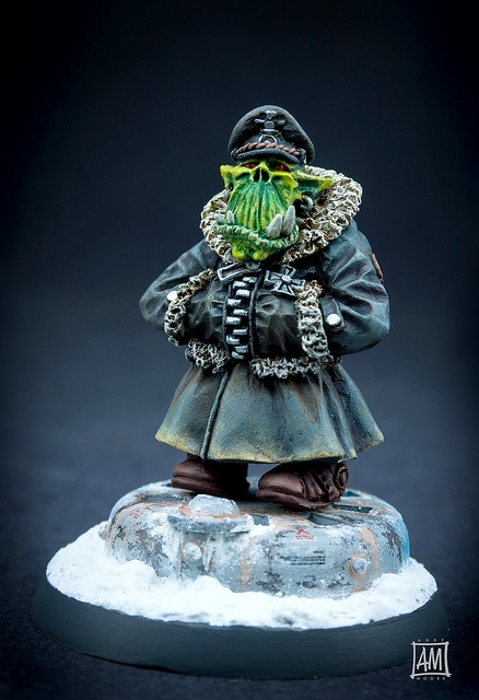 Kromlech Ork Commissar from Flickr by Andy Moore