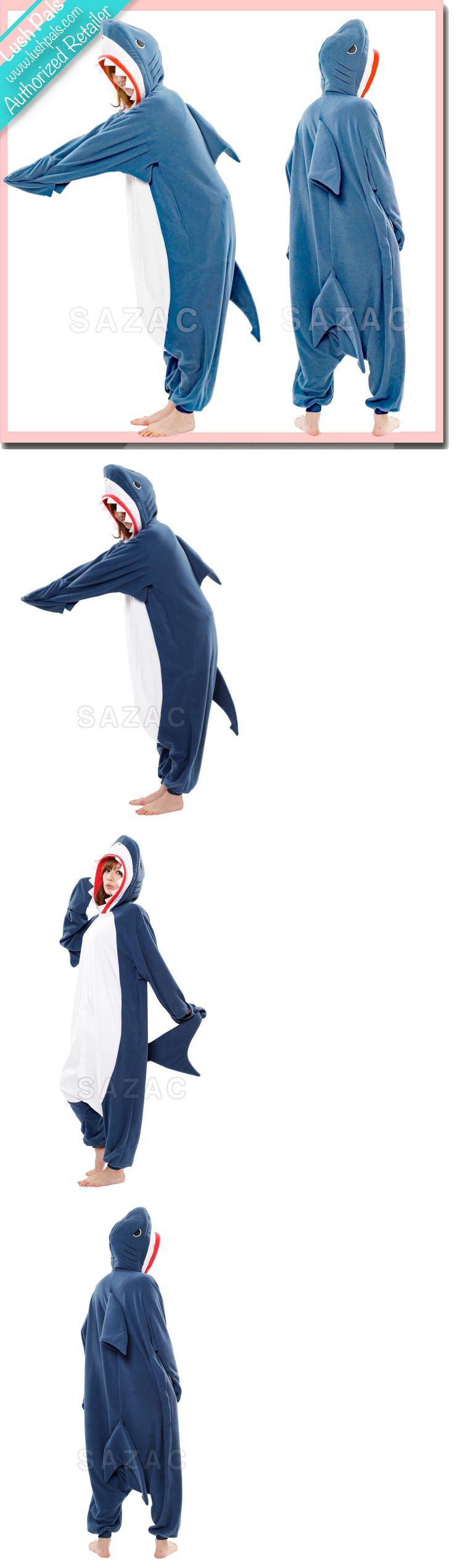 Halloween Costumes: Shark Kigurumi - Adult Costume Shipped From Usa - Sazac Kigurumi Animal Pajamas BUY IT NOW ONLY: $54.0
