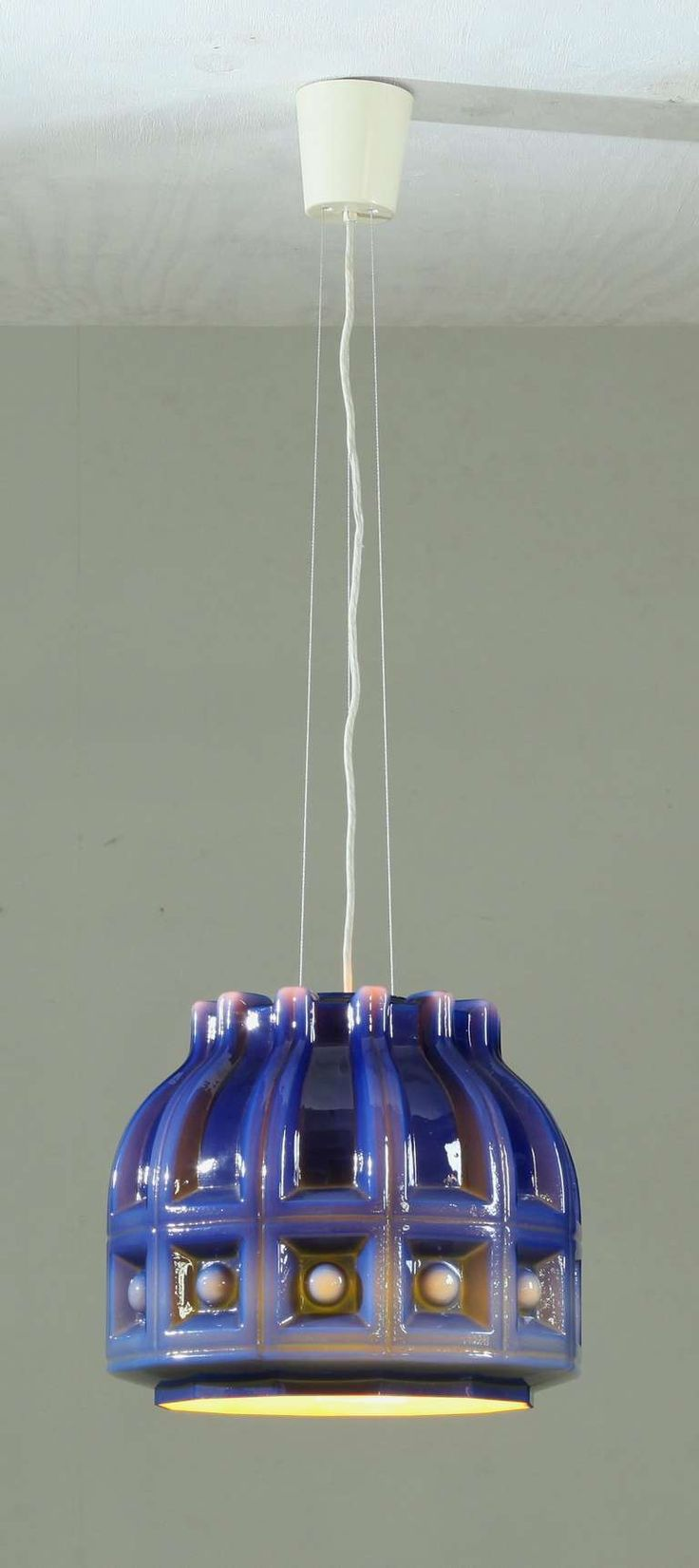 Helena Tynell and Heinrich Gantenbrink; Glass Ceiling Light for Flygsfors, 1960s.