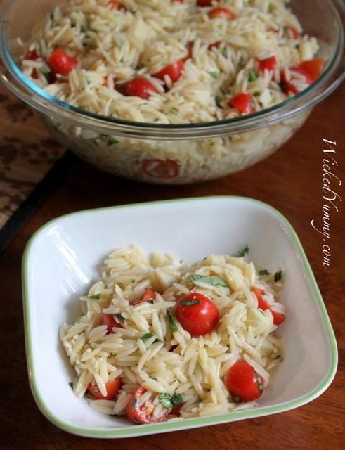 Wicked Yummy: Bruschetta Mozzarella Orzo Salad!