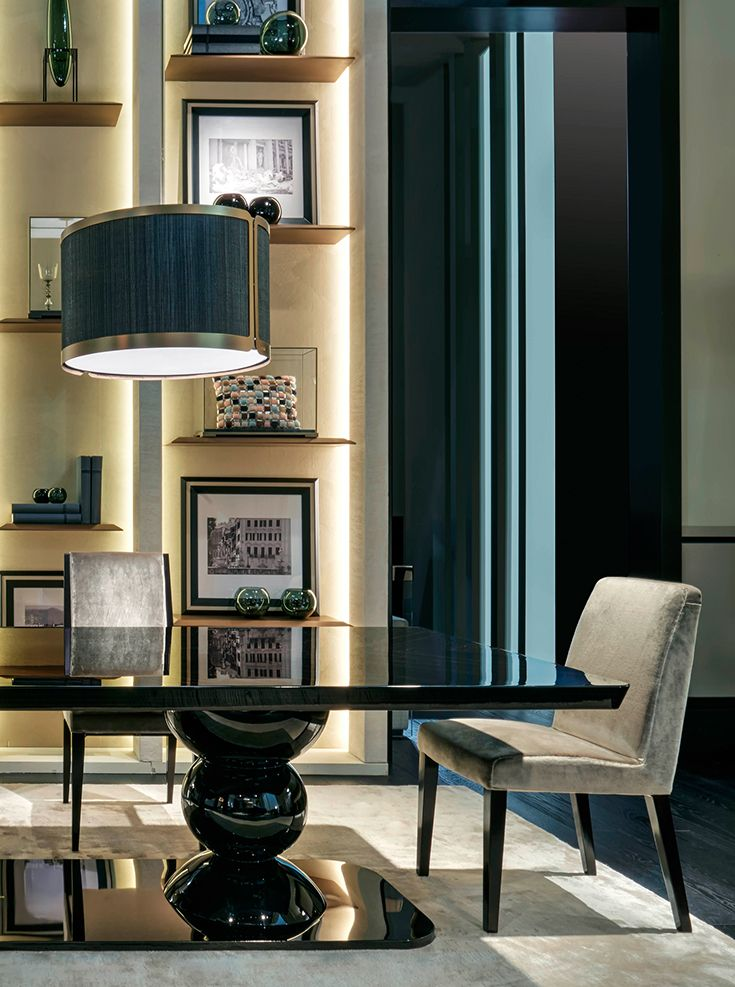 Casa Designer 3d Home Makeover App For Ipad: Fendi Casa Leonardo Table Features A Strong Design With A