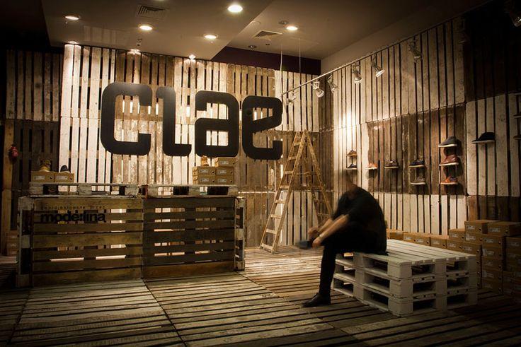 mode:lina architekci designs temporary store for clae footwear