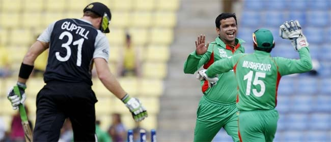 T20 WC: Abdur Razzak strikes to scalp Martin Guptill in Pallekele