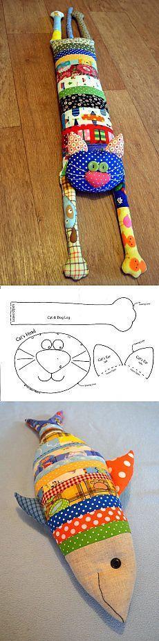 Γγρ│ Coussins, doudous, joujoux, chat et poisson feront la joie de votre enfant.