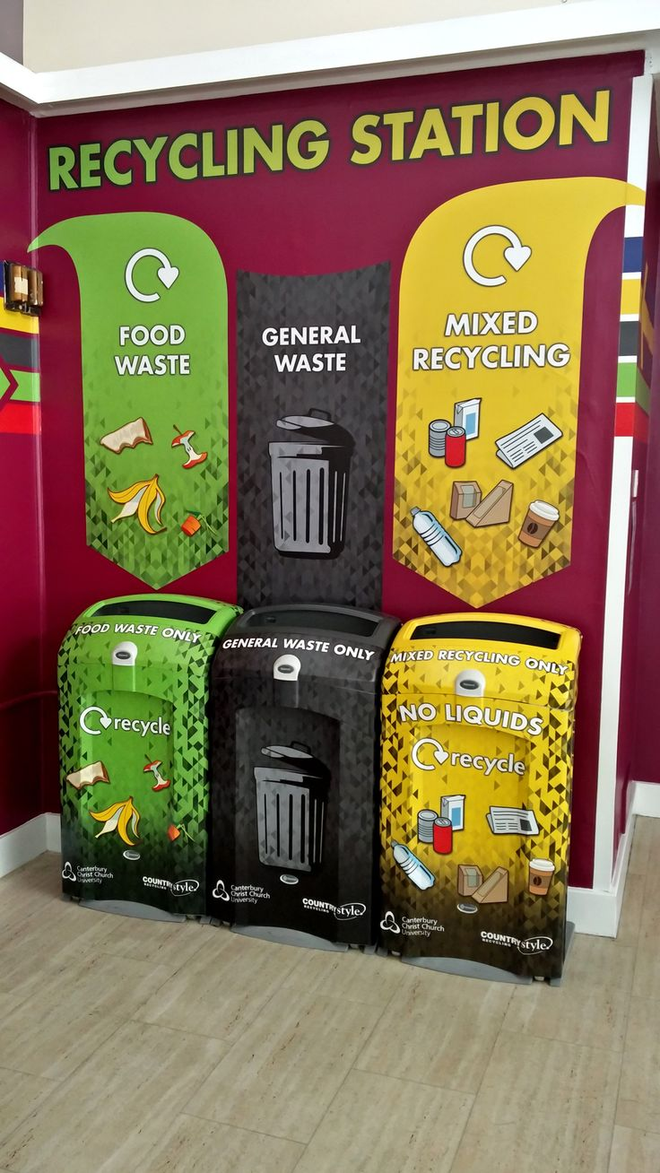 Full vinyl wrap graphics over our Nexus® 100 recycling bins, a great example of what can be achieved to make an eye catching recycling station.