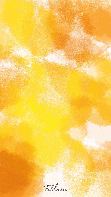 Wallpaper Watercolor Orange Fablouise Nl Fablouisenl Orange