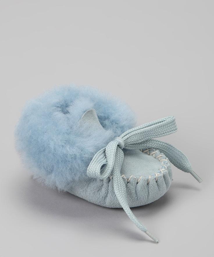 Foamtreads Blue Papose Faux Fur Slipper $17.99