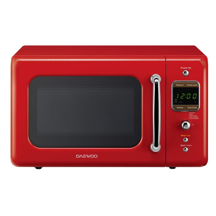 Daewoo Retro 0.7-cu ft 700-Watt Countertop Microwave (Pure Red)