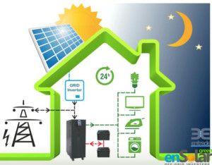 Come funziona un impianto fotovoltaico con accumulo?  http://empowersrl.com/2014/come-funziona-un-impianto-fotovoltaico-con-accumulo/