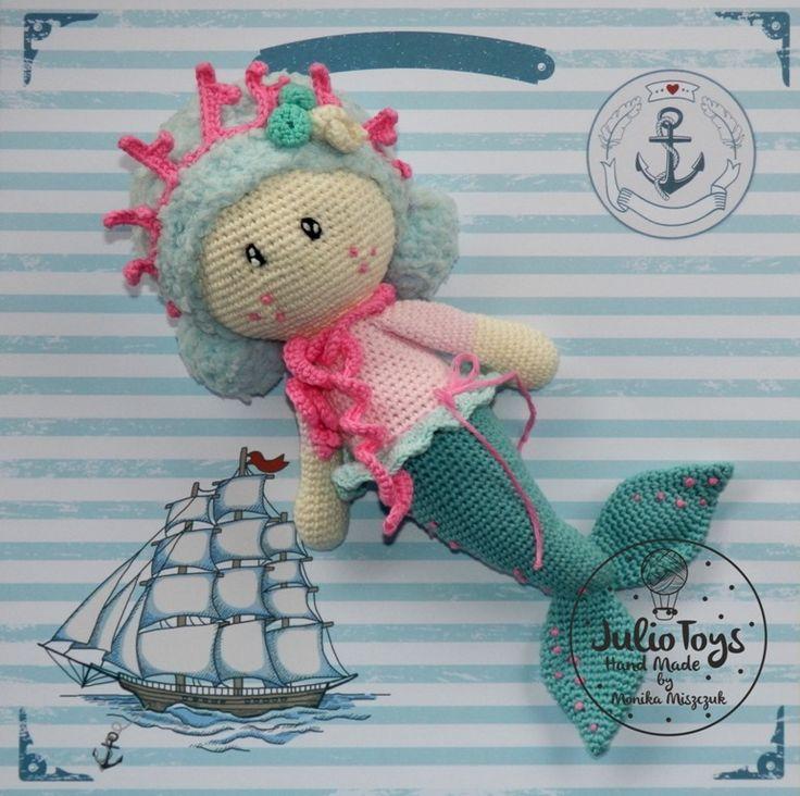 Marina szydelkowa syrenka - wzor PDF  Marina mermaid PDF pattern https://www.etsy.com/listing/288054063/marina-mermaid-pdf-pattern?ref=shop_home_active_1