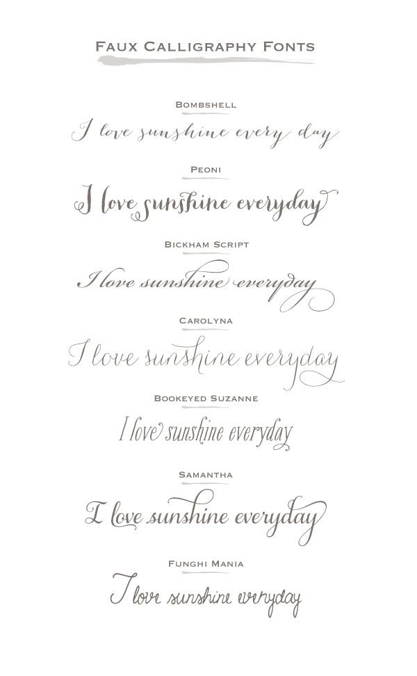 Best ideas about wedding calligraphy fonts on pinterest