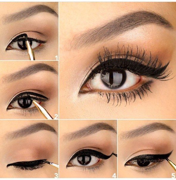 How To: Thick Cat-eye Liner