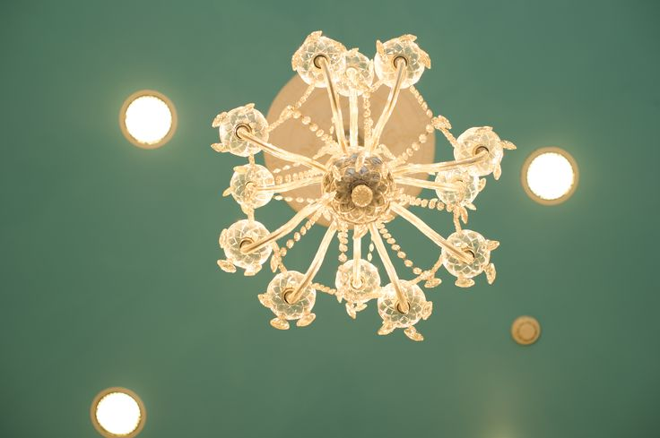 Look up to see our gorgeous ceiling and chandelier....