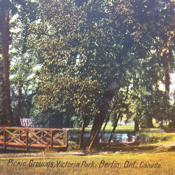 Picnic Grounds Victoria Park Berlin Ontario (circa 1912)