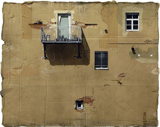 Paintings on cardboard by artist EVOL