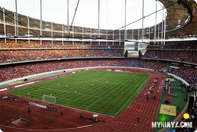 Bukit Jalil National Stadium, Kuala Lumpur, Malaysia. Capacity 87,411