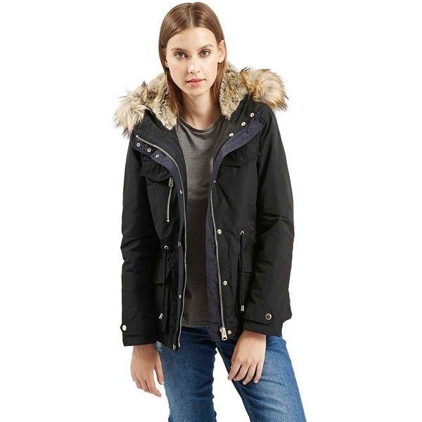 The 25  best Faux fur hooded coat ideas on Pinterest